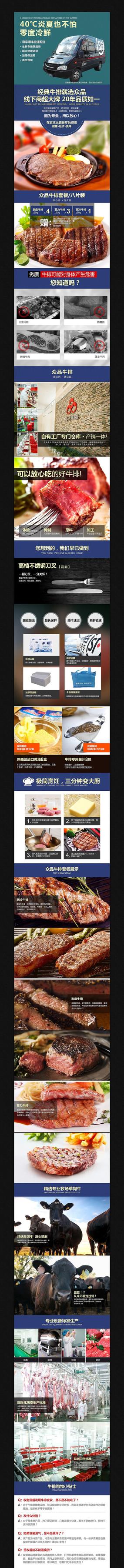 淘宝食品细节展示图PSD模板