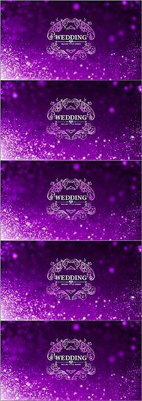 唯美粒子婚礼logo欧式花纹led舞台