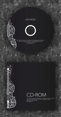 小提琴演唱会音乐时尚CD光盘设计
