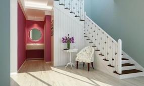 别墅楼梯间楼梯休闲区装修设计3D模型
