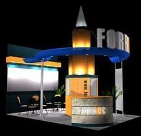 个性造型设计展厅3D设计模型