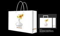 花瓶花图画手提袋