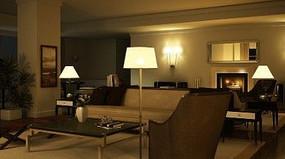 客厅户型模型效果3D模型