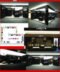 浪凡时尚品牌专卖店展示空间设计模型