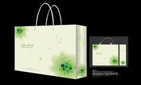 绿色圆点矢量插图手提袋