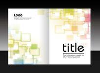 彩色方格画册封面设计