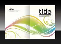 彩色线条创意画册封面设计