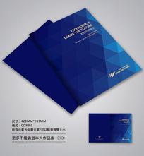 精品蓝色科技封面设计