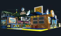 金轮星城房地产展览会展台设计方案