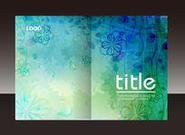 蓝色花纹艺术画册封面设计
