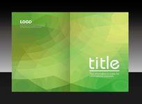 绿色不规则色块画册封面设计