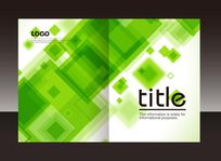 绿色方块画册封面设计