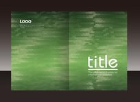 绿色马赛克画册封面设计