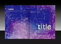 紫色纹理封面设计