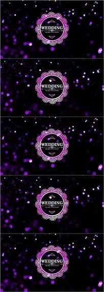高端婚礼logo欧式花纹led舞台