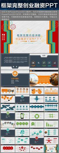 框架完整创业融资计划书PPT