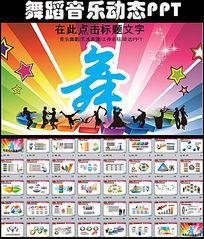 舞蹈学校培训中心艺术表演计划动态PPT模板