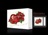 幸福爱心礼盒图形设计
