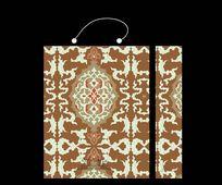褐色精致装饰花纹图案