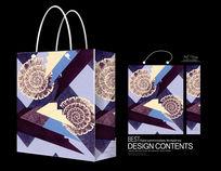 精美紫色花纹手提袋