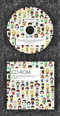 卡通人物时尚CD光盘设计