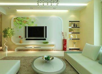 清新田园风格客厅装修3D效果模型素材图片