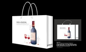 生日红酒礼品手提袋