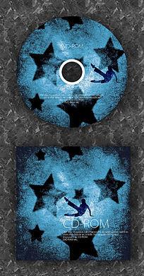 深色梦幻舞蹈时尚CD光盘设计