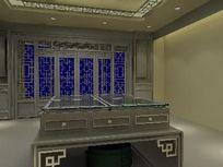 中式产品卖场装修设计3D模型素材max