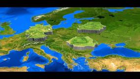 3D立体世界地图