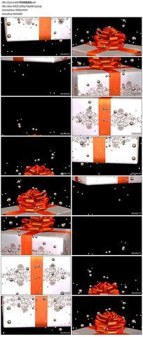 歡快節日動感禮品包裝盒視頻素材