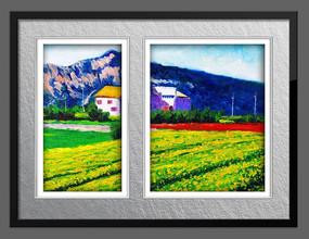 现代抽象风景油画