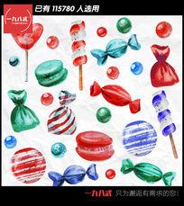 彩绘糖果矢量图