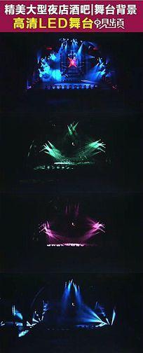 超酷绚丽舞台灯光秀激光秀开场 酒吧夜场动感舞台背景视频素材