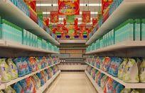 超市洗化区装修布置3D模型