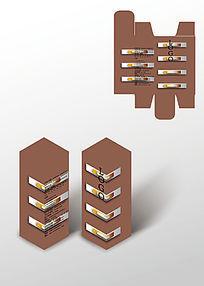 短横纹礼品包装盒模板