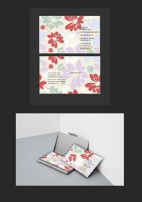 高档精致植物花卉创意名片设计