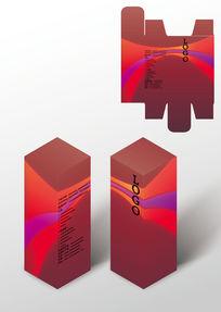 紅色尊貴禮品包裝盒模板
