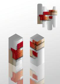 简约几何化妆品包装盒模板