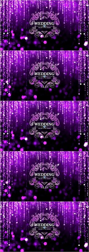 时尚大气欧式婚礼logo舞台背景视频素材