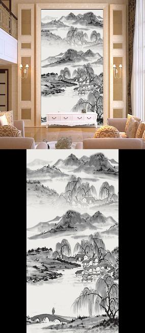 现代水墨国画