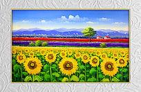 油画向日葵装饰画