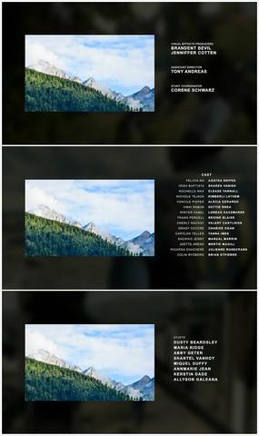 简洁实用电影片尾字幕AE模板 aep