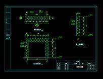 钢构大门施工图CAD素材