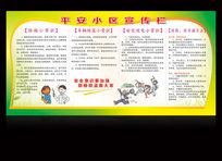 平安小社区宣传栏展板设计