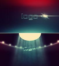 不明飞行物UFO特效logo标志展示模板