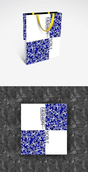 青花瓷中国风格展会手提袋