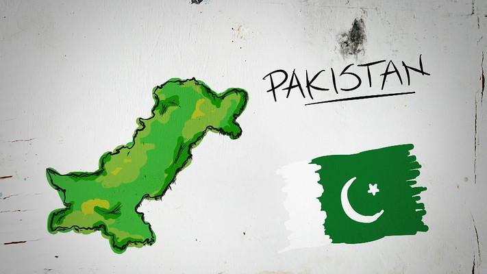 巴基斯坦手绘涂鸦地图视频素材