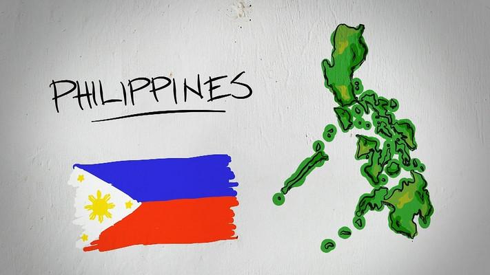 菲律宾手绘涂鸦地图视频素材