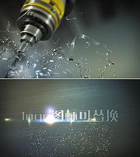 金属钻头切割雕刻logo标志展示ae模